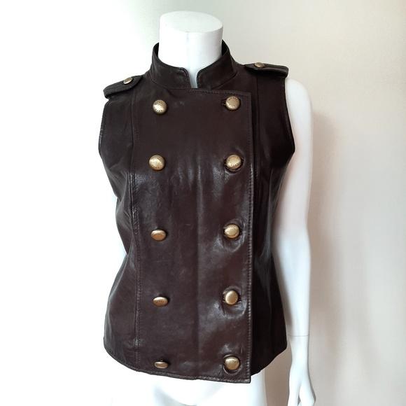 MICHAEL Michael Kors Jackets & Blazers - Michael Kors Brown Leather Vest